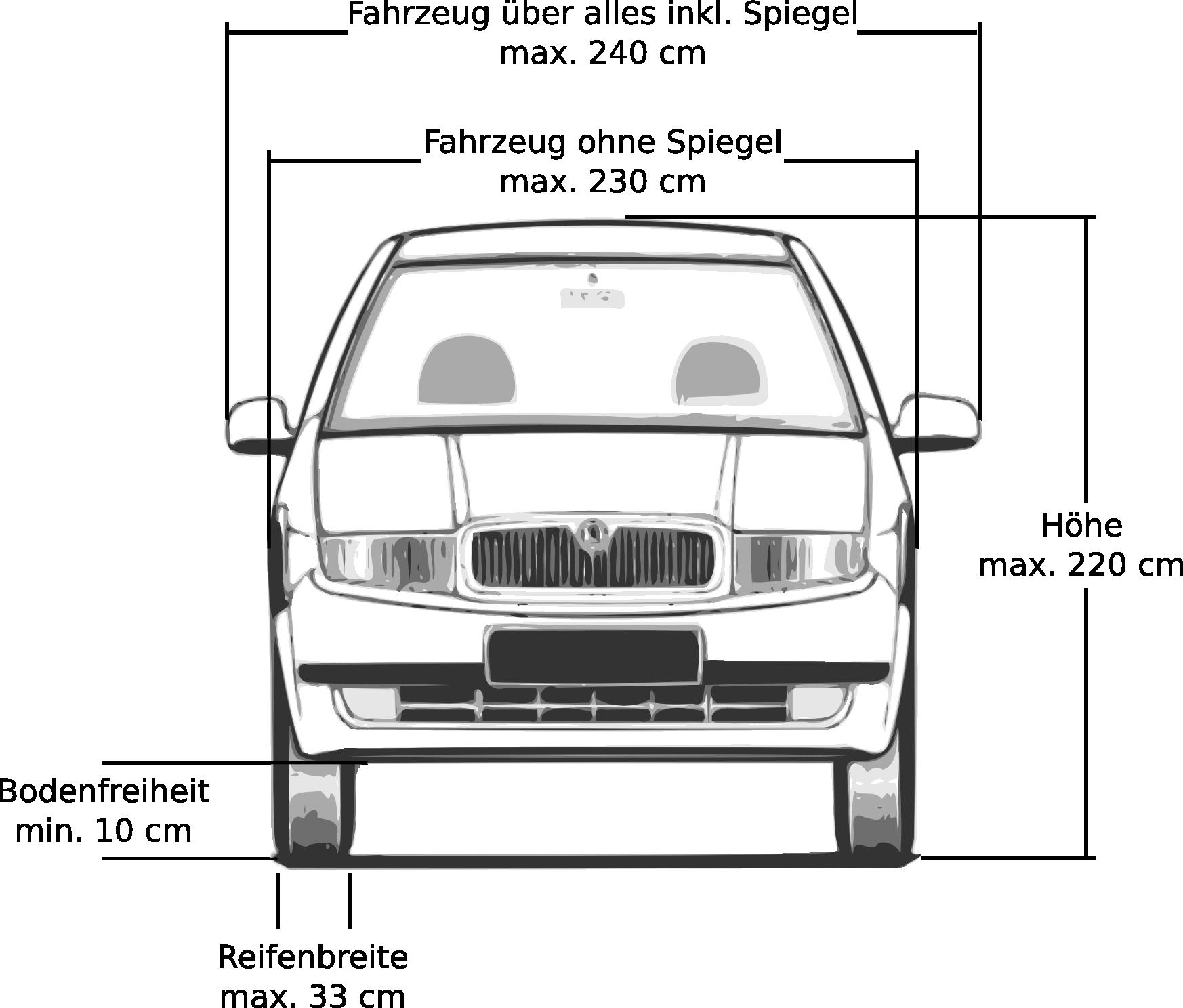 Fahrzeugabmessungen